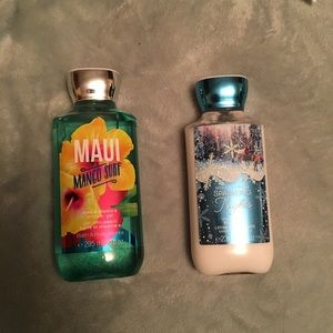 Bath and body works shower gel and body lotion